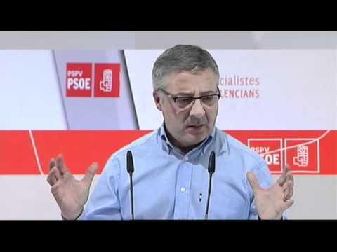 27-11-10. José Blanco en la Convención Municipal del PSPV en Gandía