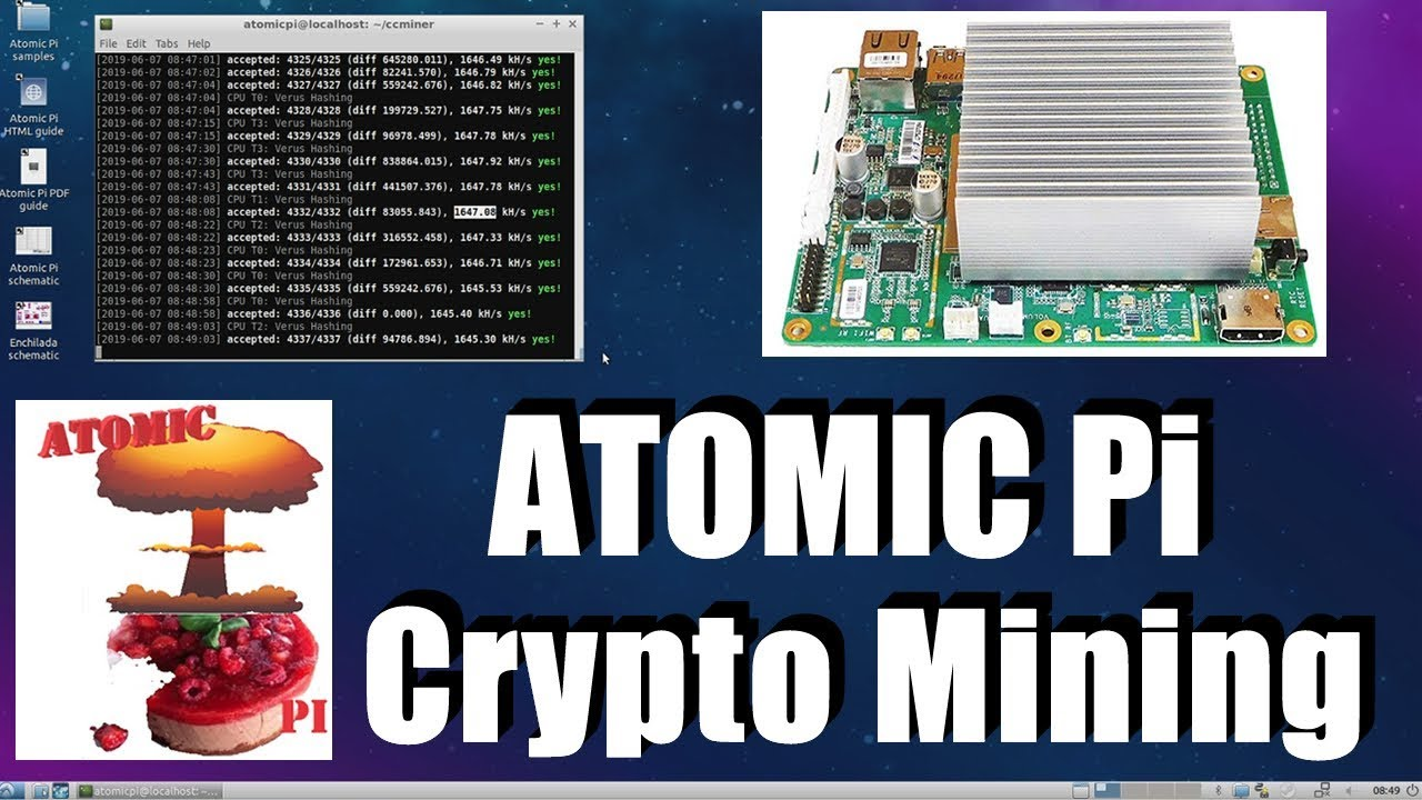 Crypto Mining On Atomic Pi - CoinGecko TV