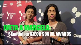 IVETA A MARCELA - Skandál na Czech Social Awards 2019