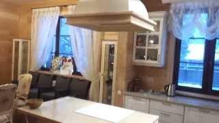 Кухня на заказ из массива ясеня в доме из клееного бруса(Заказать кухню http://www.arslignaria.ru/wood-kitchen.html#startr., 2015-04-21T10:56:19.000Z)
