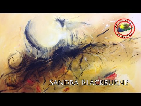 Art Show with Sandra Blackburne Abstract Paintings on Colour In Your Life