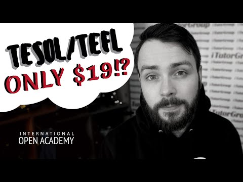 How To Get A Cheap, But Effective TESOL / TEFL Certificate (ONLY $19)