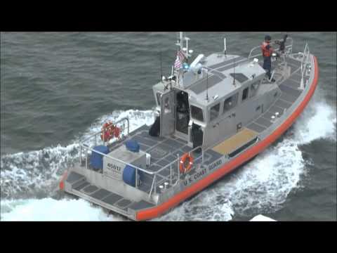 US Coast Guard patrol boat in action