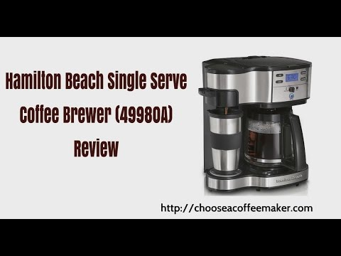 Hamilton Beach Single Serve Coffee Brewer 49980a Review Youtube