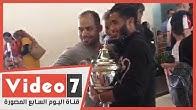بعثة الزمالك في مطار أبو ظبى والكأس في أحضان محمد حسن