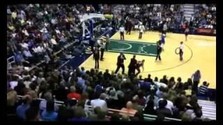 Fight NBA 2011 vs Utah Jazz bear vs Cleveland Cavaliers Fan  Mascot vs Human