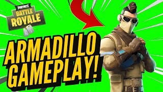 ARMADILLO Skin Gameplay! In Fortnite Battle Royale..