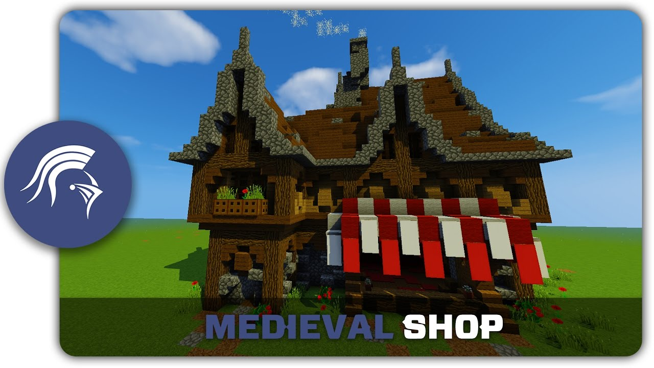 Minecraft building tutorial how to build a medieval for What to do to build a house