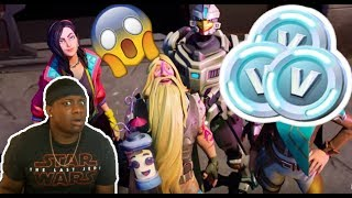 FORTNITE SEASON BATTLE PASS 9 REACTION AND 8,400 V BUCK GIVEAWAY