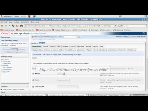 Configuring Managed Servers In Weblogic Server 10.3.4.avi