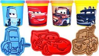 Play-Doh Disney Cars Molds & Surprise Eggs, Learn Colors, Nursery rhymes