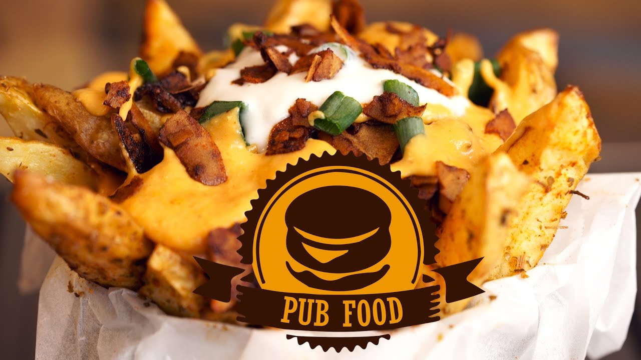 Vegan cheese fries bacon pub food series ep1 youtube for Bar food vegetarian
