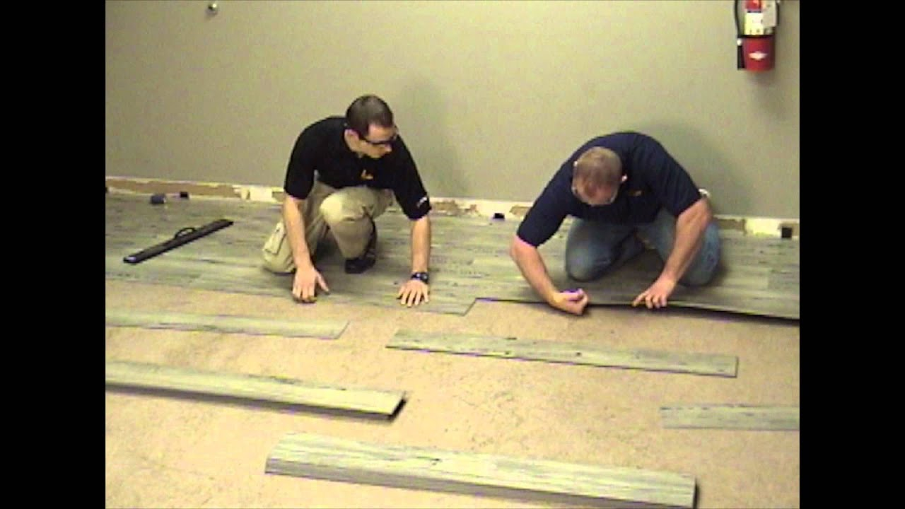 Luxury Click Vinyl Installation YouTube - What is the best quality vinyl plank flooring