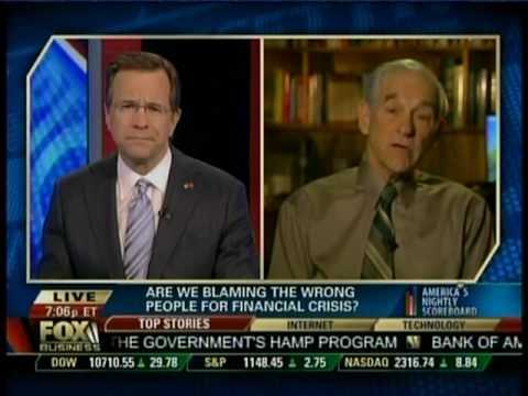 Congressman Paul Discusses Financial Crisis with David Asman