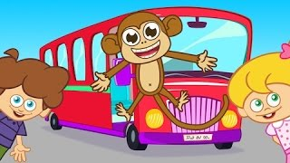 Wheels on the Bus - Adisebaba İngilizce Çizgi Film Çocuk Şarkıları Videoları
