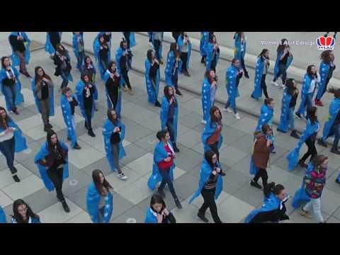 9 Vjetori i Pavarësisë së Kosovës Mehmet Akif College - Flash Mob