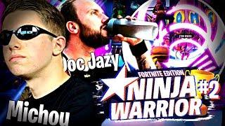Michou remet son titre Ninja Warrior Fortnite édition en jeu !