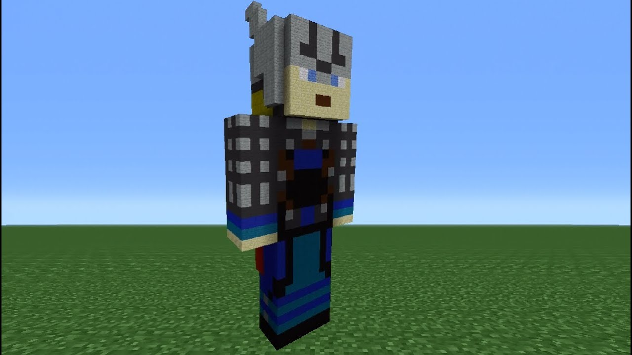Minecraft 360 How To Make A Thor Statue The Avengers YouTube