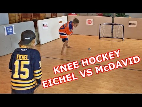 "Kids HocKey - Knee HocKey   ""Jack Eichel"" vs Carter McDavid Jack Porter Vs CBanks"