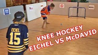 "Kids HocKey Knee HocKey Insane end huge fight between ""Jack Eichel"" & ""Connor McDavid"""
