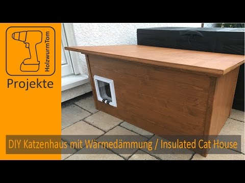 DIY Katzenhaus mit Wärmedämmung / Insulated Cat House (with english subtitle)