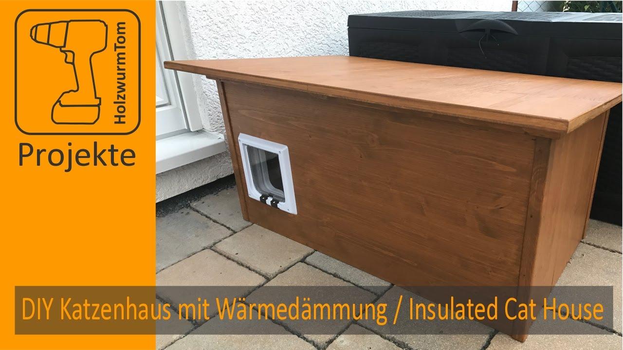 Diy Winter Katzenhaus Mit W 228 Rmed 228 Mmung Insulated Winter