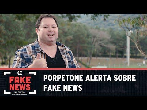 SBT Contra Notícias Falsas: Alexandre Porpetone apoia luta contra mentiras virtuais