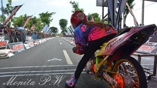 Drag Bike wanita indonesia Monita Jogjakarta | indonesia drag bike girls