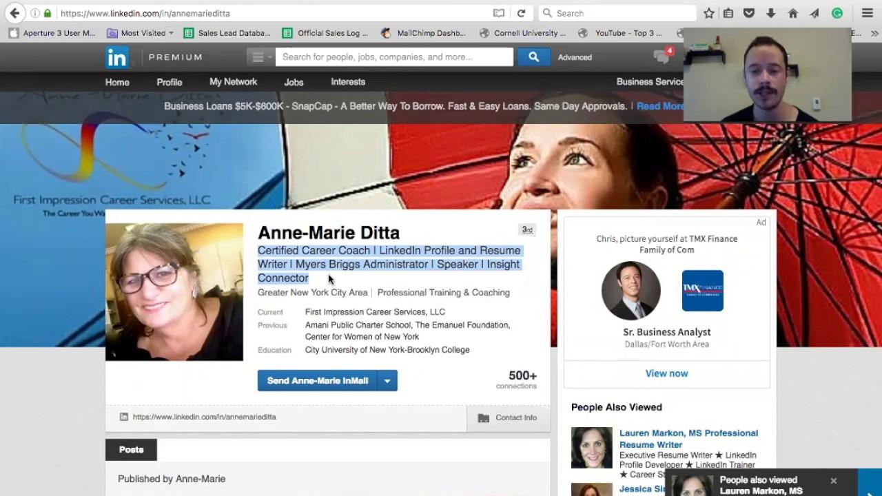 Linkedin Profiles vs  Resumes