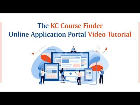 KC Course Finder Online Application Portal – Video Tutorial