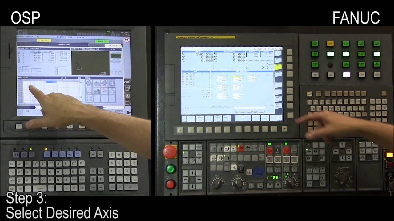 Cnc Control Procedures Okuma Osp Amp Fanuc Work Zero