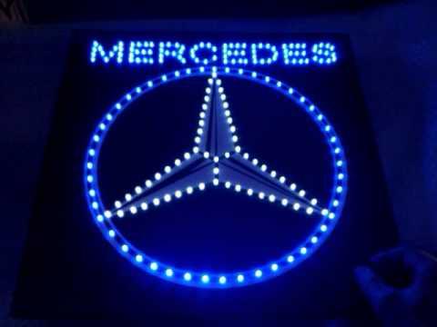 Mercedes actros truck ledlogo met dimmer www for Mercedes benz light up emblem