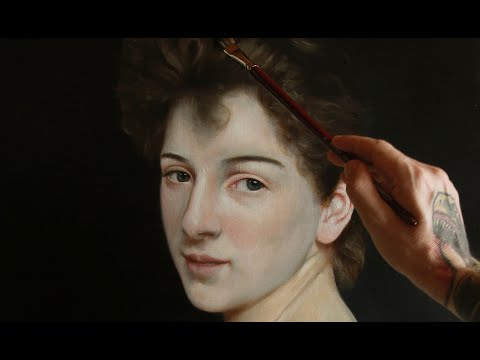 Painting a Bouguereau in oil
