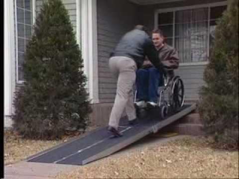 portable wheelchair ramps youtube