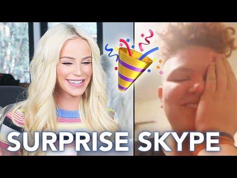 SURPRISING FANS on Skype! | Gigi
