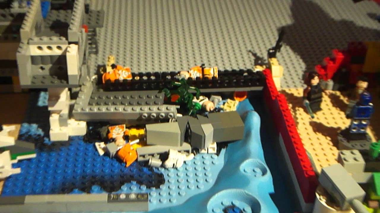 Lego star wars base how to make a lego 99 aqua droid youtube - Lego star wars base droide ...