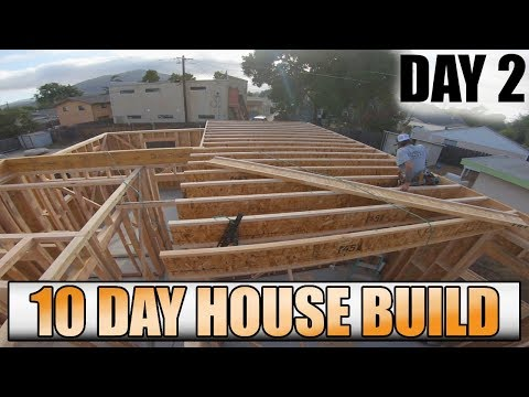 10 Day House Build: Day 2 - Framing Walls, OSB And Floor System
