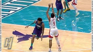 Mason Jones Flops Big on a 3-Point Attempt - Rockets vs Hornets | February 8, 2020-21 NBA Season