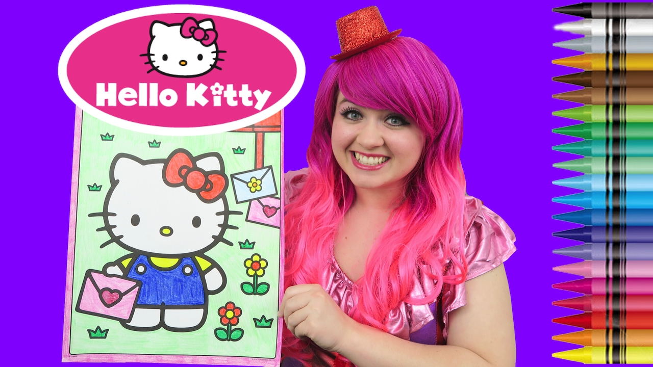 Coloring Hello Kitty GIANT Book Crayola Crayons