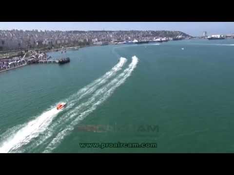 Proaircam havadan görüntüleme hizmetleri. Offshore yarışları hava çekimleri