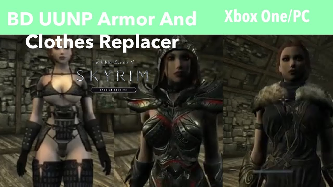 Skyrim SE Xbox One/PC Mods|BD UUNP Armor And Clothes Replacer