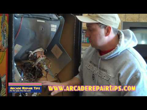 Arcade Repair Tips - Removing And Installing A Monitor Chassis