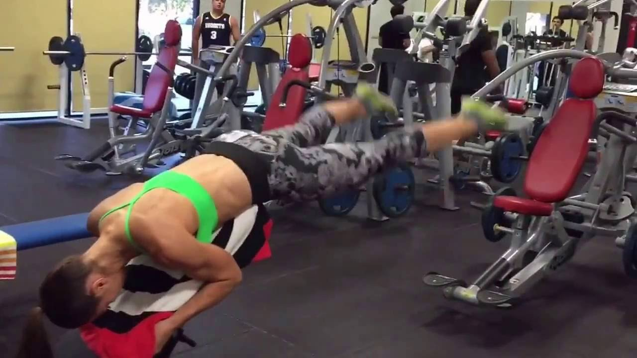 Glutes Exercise Reverse Hyperextension Incline Bench No