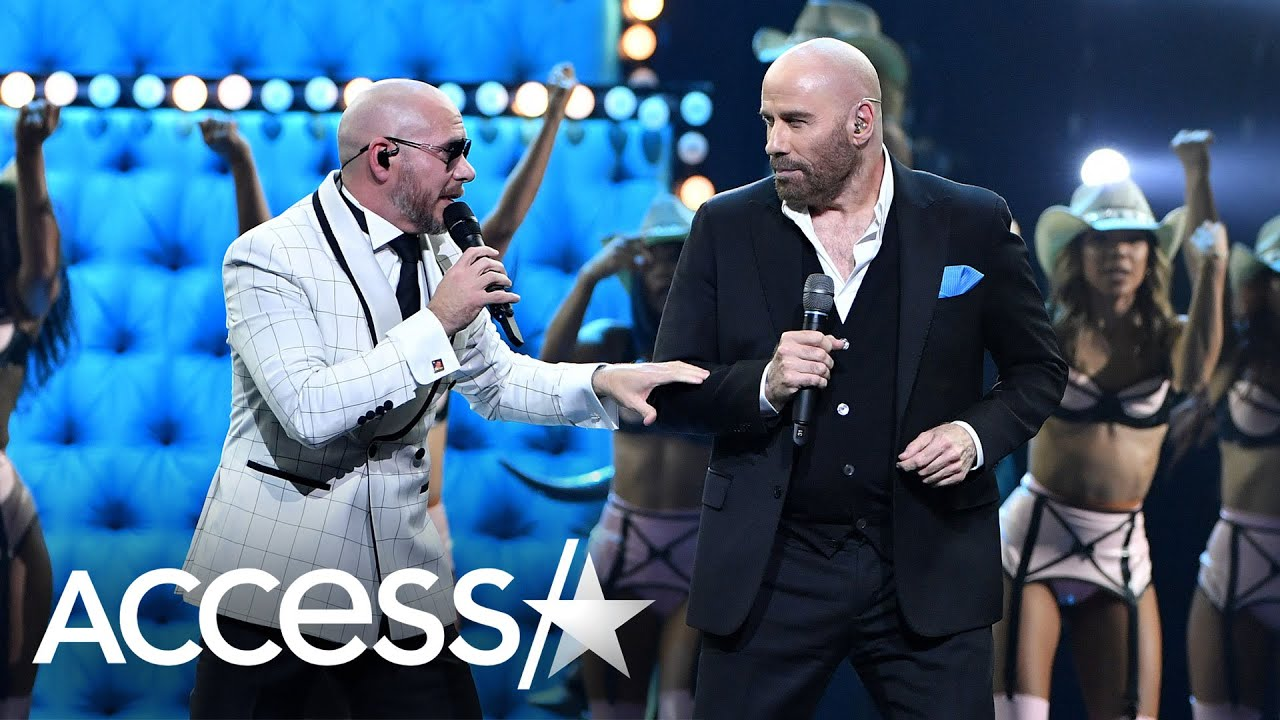 John Travolta Shakes His Hips And Sings With Pitbull & Lil Jon In Surprise Performance