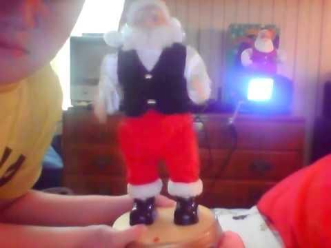 Rare Gemmy Hip Swinging Santa Doovi