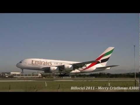 Landing and Take Off in Rome Fiumicino A380 Emirates (WITH ATC RADIO) -RWY 34L- [FULL HD]