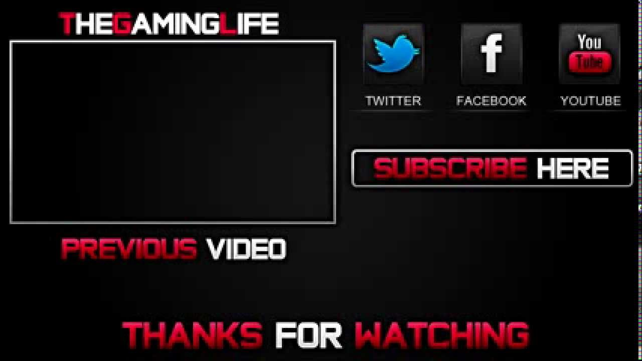 new outro template free download photoshop any version