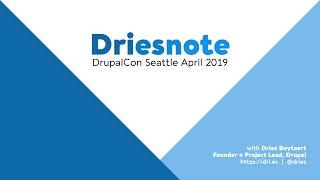 DrupalCon Seattle 2019: Driesnote thumbnail