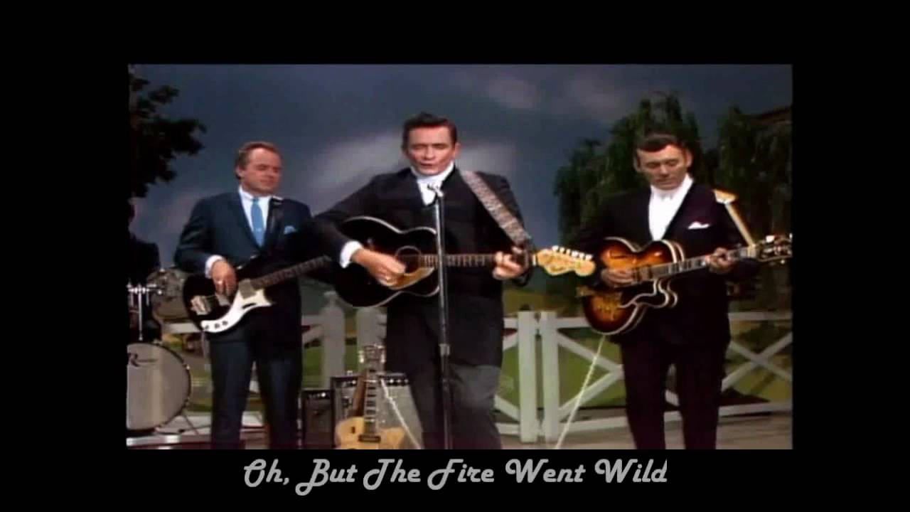 Johnny Cash Ring Of Fire With Lyrics Hd