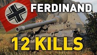 World of Tanks || Ferdinand - 12 KILLS...